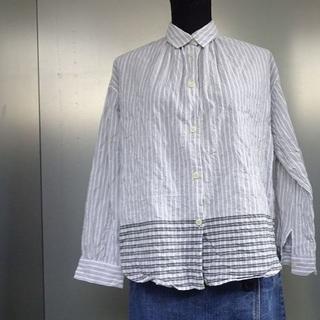 チャオパニックティピー(CIAOPANIC TYPY)の【CIAOPANIC TYPY】ストライプ×裾チェックシャツ(シャツ/ブラウス(長袖/七分))