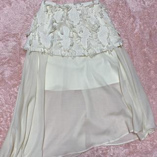 ハニーミーハニー(Honey mi Honey)のジャガードペプラムスカート(ひざ丈スカート)