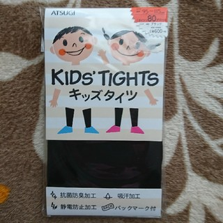 キッズタイツ 80デニール 黒 95~115(靴下/タイツ)