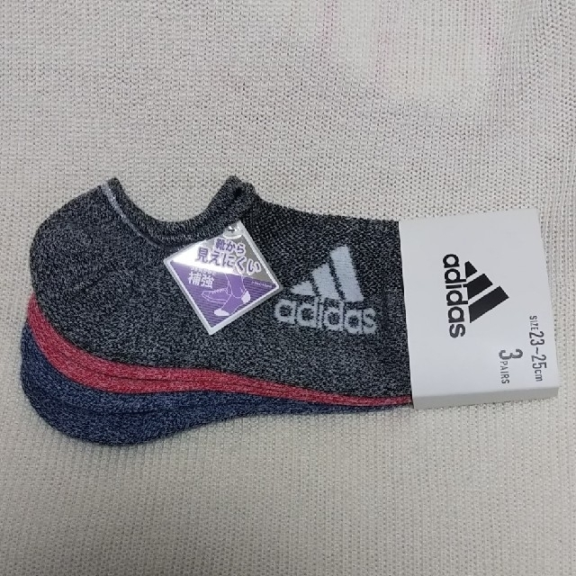 adidas(アディダス)の【新品】adidas★レディース靴下3足  レディースのレッグウェア(ソックス)の商品写真