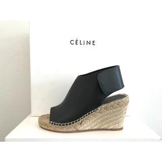 セリーヌ(celine)の新品未使用! CELINE Leather Espadrille サンダル(ブーティ)