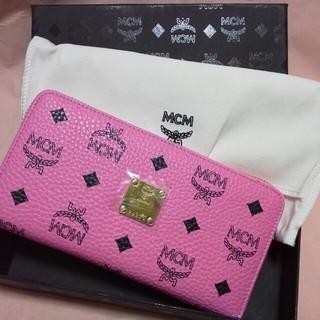 エムシーエム(MCM)の新品未使用★MCMファスナー式長財布♥桃(財布)