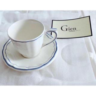 サラグレース(Sarah Grace)の*新品未使用* サラグレース Gien Filet カップ&ソーサー ブルー(グラス/カップ)