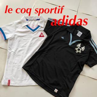 アディダス(adidas)のアディダス ルコック ポロシャツ 2枚 ポリエステル S スポーツ ゴルフ(ポロシャツ)
