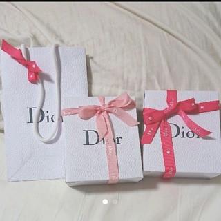 ディオール(Dior)のDior ギフト box 2セット プレゼント用 ショッパー ショップ袋(ラッピング/包装)