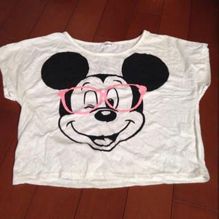 582.ミッキーT メガネ(Tシャツ(半袖/袖なし))
