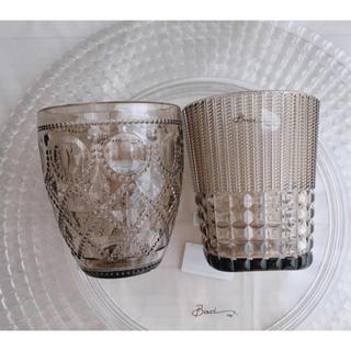サラグレース(Sarah Grace)のBaci Milano ウォーターグラス DIAMANTE&ZEN ベージュ(グラス/カップ)