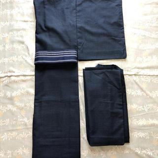 お値下げ‼️男性 紬の着物 単衣アンサンブルセット‼️(着物)