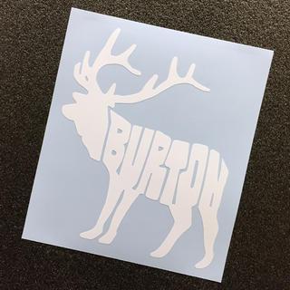 バートン(BURTON)のBURTON ヘラジカ(ムース)モチーフカッティングステッカー 送料無料(アクセサリー)