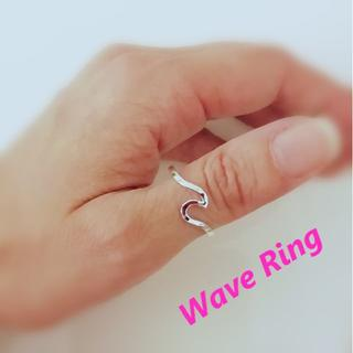 ring 指輪 ウェーブ 波 親指 人差し指 シルバー(リング(指輪))