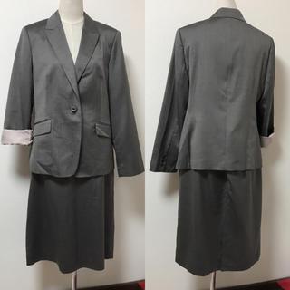 美品 アリスバーリー 17〜19号 ウール シルク スーツ 大きいサイズ