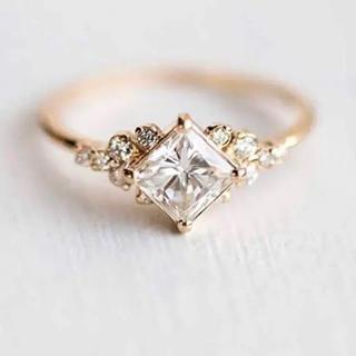 AAAランク ダイヤモンドcz ゴールド リング 指輪(リング(指輪))