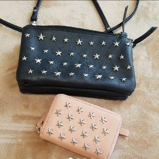 シマムラ(しまむら)の星スタッツ ポシェット&カード入れお財布 お財布バック ショルダー(ショルダーバッグ)