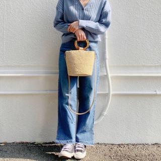 ディスコート(Discoat)の2019s/s  Discoat  デニム裾配色スリットパンツ(デニム/ジーンズ)