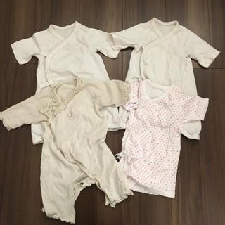 7136a7962728b ユニクロ(UNIQLO)の新生児 肌着 ロンパース 4枚セット ユニクロ、育児工房(
