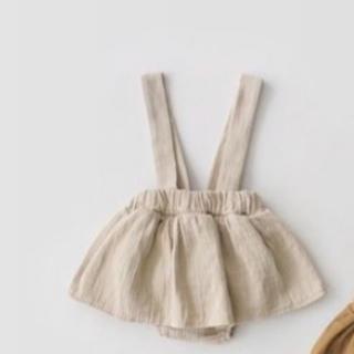 POCO様リトルベビースカート ブルマ 80 クリームくすみ(スカート)