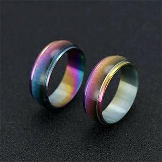 レインボーメタルリング レジン 単品(リング(指輪))