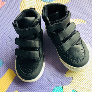 ベビーギャップ(babyGAP)の新品GAP スニーカー ブーツ12.5cm黒 子供靴 ハイカット ダンスシューズ(スニーカー)