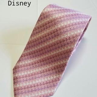 ディズニー(Disney)のディズニー ネクタイ ミッキー ピンク 美品(ネクタイ)