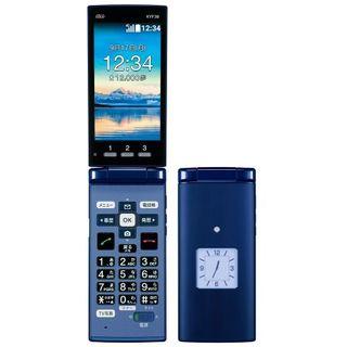 キョウセラ(京セラ)の新品解除済 かんたんケータイ KYF38 BLUE 〇(携帯電話本体)