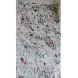 ザラ(ZARA)の正方形 大幅 バタフライ 昆虫柄 ストール インセクト(ストール/パシュミナ)