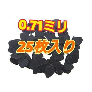 シンプル ギターピック 黒 25枚入り(その他)