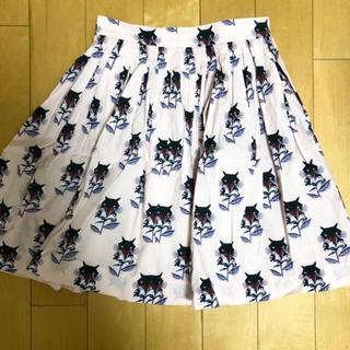 ミュウミュウ(miumiu)のMIUMIU ネコ柄スカート(ひざ丈スカート)