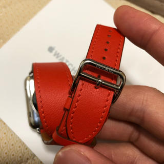 アップルウォッチ(Apple Watch)のレア エルメス ドゥブルトゥール Apple Watch 38mm 40mm用(レザーベルト)
