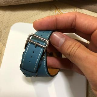 アップルウォッチ(Apple Watch)のエルメス Apple Watchベルト ブルージーン(レザーベルト)