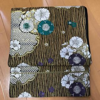 ニシジン(西陣)の振り袖OK 雪輪に八重桜模様の可愛い袋帯 西陣織(帯)