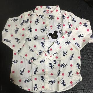 ユニクロ(UNIQLO)の新品女の子用バンビちゃん柄シャツ(ブラウス)