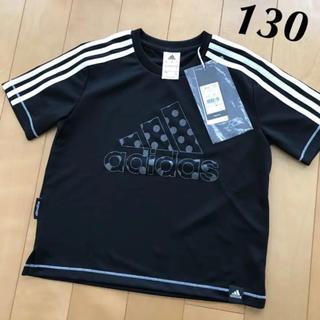 アディダス(adidas)の新品★adidas グリッター 水玉 ビッグロゴ 半袖 Tシャツ 黒(Tシャツ/カットソー)