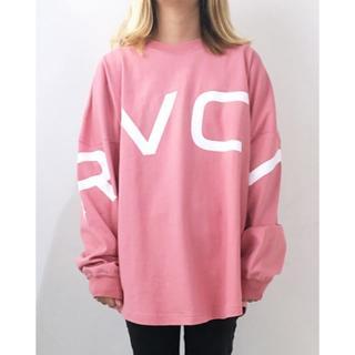 ルーカ(RVCA)の完売!2019SS RVCAルーカオーバーサイズフィットロンTEE S PNK(Tシャツ(長袖/七分))