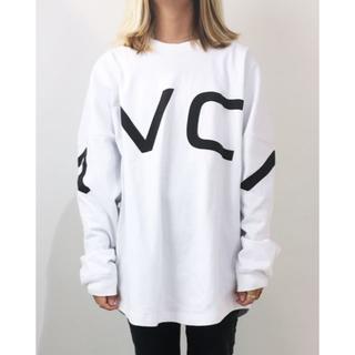 ルーカ(RVCA)の完売!2019SS RVCAルーカオーバーサイズフィットロンTEE S WHT(Tシャツ(長袖/七分))