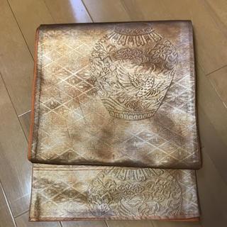 ニシジン(西陣)の粋!壺と器模様 西陣織 引き箔模様の渋い袋帯(帯)