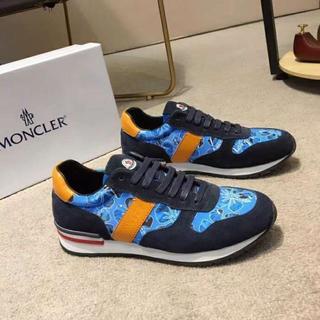 モンクレール(MONCLER)のMonclerフラットシューズ/ブルー/メンズ(スニーカー)