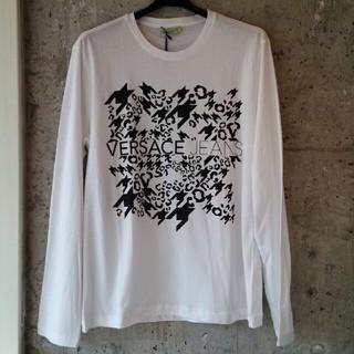 ヴェルサーチ(VERSACE)のVERSACE JEANS  長袖T シャツ  ホワイト  XL (Tシャツ/カットソー(七分/長袖))