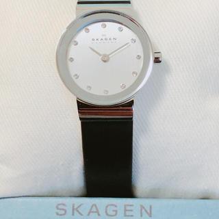 スカーゲン(SKAGEN)の新品 SKAGEN レディース レザーベルト 358XSSLBC(腕時計)