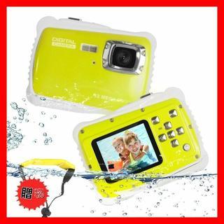 子供用 デジタルカメラ 800万画素 トイカメラ 2.0インチ  (イエロー)(コンパクトデジタルカメラ)