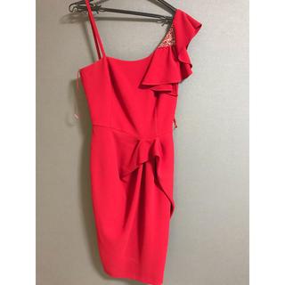 ザラ(ZARA)のROMANI ワンショルダードレス(ミディアムドレス)