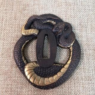 日本刀鍔 刀鐔 大蛇(武具)