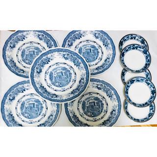 ニッコー(NIKKO)のnikko ぶどう NKT食器  中、小皿セット 各7枚セット(食器)