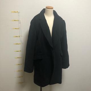 シマムラ(しまむら)の新品 2way コート 黒 LLサイズ(ロングコート)
