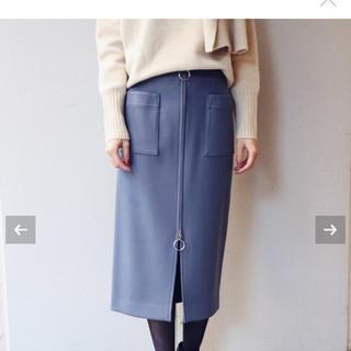 ノーブル(Noble)の☆新品タグ付☆【NOBLE】TWダブルクロスフープジップタイトスカート(ひざ丈スカート)