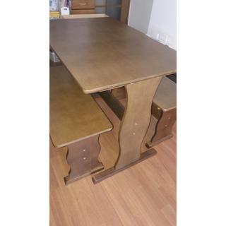 ダイニングテーブル 3点セット(ダイニングテーブル)