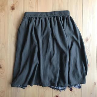 ハニーズ(HONEYS)のスカート リバーシブル 迷彩 カーキ(ひざ丈スカート)