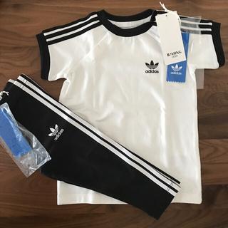 アディダス(adidas)の新品未使用 3ストライプス 上下セット(Tシャツ)