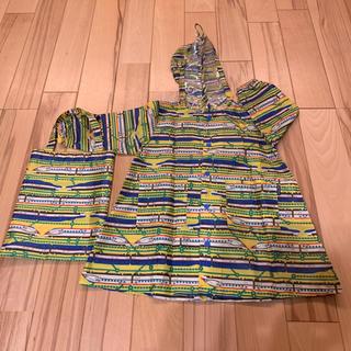 キッズフォーレ(KIDS FORET)のレインコート kids foret 90cm 新幹線 美品 (レインコート)