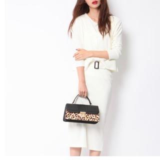 メイソングレイ(MAYSON GREY)の★ソコラ★カーデ Tシャツ ベルト付きスカートの3点セット オフホワイト(セット/コーデ)
