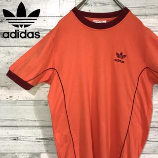 アディダス(adidas)の【激レア】アディダスadidas☆銀タグ刺繍ロゴ入りラインデザインTシャツ90s(Tシャツ/カットソー(半袖/袖なし))